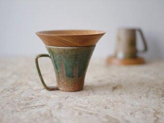 マグカップ / 木の蓋付き No.37の画像