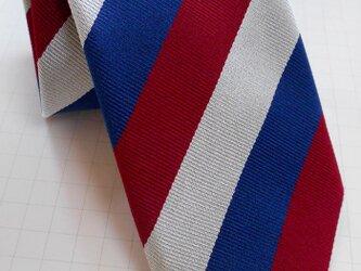【セール中】ネクタイ レジメントリコロール  シルク(絹)100%の画像