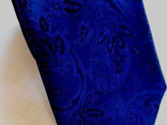 【セール中】ネクタイ 更紗シャドーペイズリー  シルク(絹)100%の画像