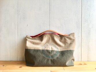 【受注製作】ヌメ革持ち手のくったり鞄の画像