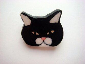 不機嫌ネコさん ブローチの画像