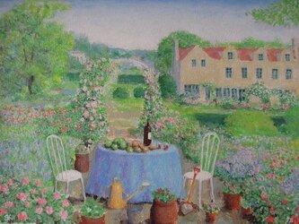 ローズガーデン(フルーツとワインのテーブル)の画像