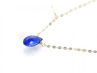 K10ブルーカイヤナイトネックレスの画像
