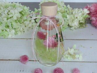【送料無料】ハーバリウムギフト ドロップボトル ピンクの画像