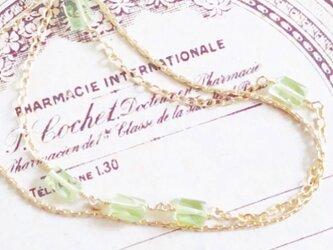 *限定1点*peridot*braceletの画像