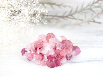 雨とアジサイのバレッタ(pink-mix) M #372の画像