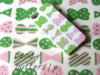 ハード型スマホケース candy butterfly ( pink × green )【iPhone/Android各機種対応】の画像