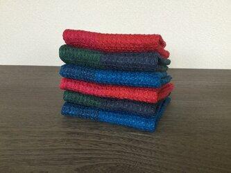 手織りの リネンの ハンカチの画像