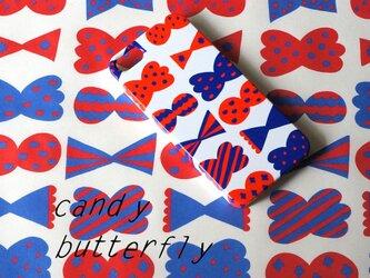 ハード型スマホケース candy butterfly ( red × blue ) 【iPhone/Android各機種対応】の画像