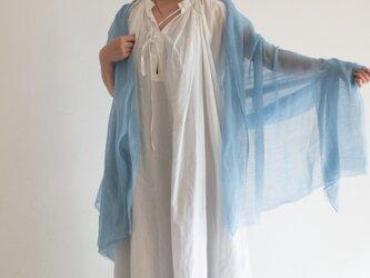 藍染め カディコットンストールの画像