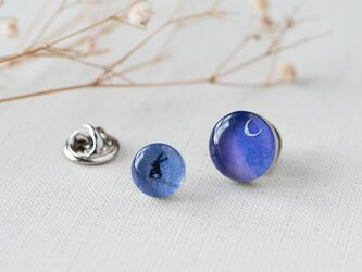 ピンバッチセット02/青い夜の画像