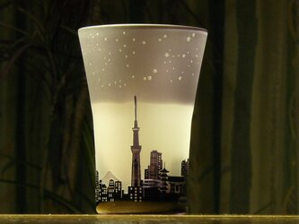 新★星降る街のタンブラー ~12星座  紫(1個)の画像