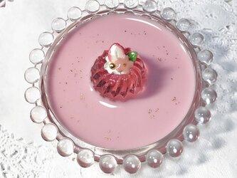 桜いちごゼリーのcircleアクセサリートレイの画像