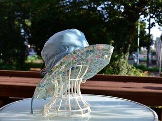 晴雨兼用帽子 リバーシブルレインハット 耐水撥水54cm〜58cm サイズ調整可能の画像