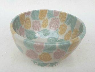 練上 飯碗 薔薇紋 の画像