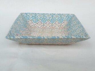 練上 角鉢 花菱紋青の画像