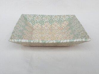 練上 角鉢 花菱紋緑の画像