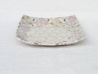 練上 角皿 ピンクの画像