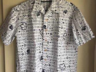 2L〜3L・浴衣シャツ(メンズ向け)円・ふぐの画像