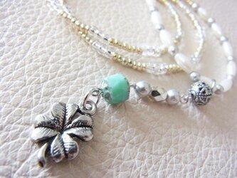 Clover+Pearl☆ネックレスの画像