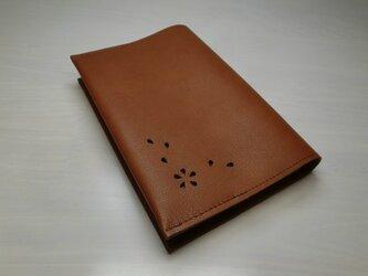 ハヤカワ文庫トールサイズ対応・「HANABIRA」シリーズ・ゴートスキン・一枚革のブックカバー・0196の画像