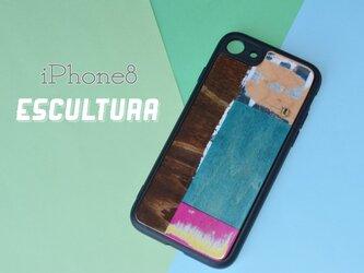 送料無料 iPhoneケース アイフォンケース スケートボード 木目 天然木 木製ケース  iPhone8の画像