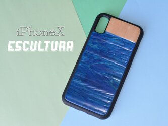 送料無料 iPhoneケース アイフォンケース スケートボード 木目 天然木 木製ケース  iPhoneXの画像