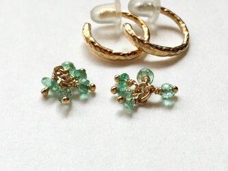 [EC] Bouquet (Emerald) Ear Clipsの画像