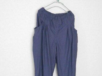 リネンのタックパンツ Lサイズの画像