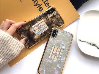 送料無料 iPhoneケース パール/シェル 貝殻 アイフォンケース iPhone8/7/ 7+/8+/Xの画像