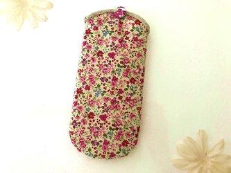 小花柄メガネケース ピンクの画像