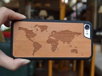 送料無料 iPhoneケース 木製ケース 天然木 木目調 ウッドケース 無垢材 高級 大人の画像