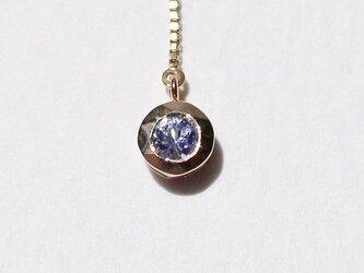 Tanzanite chain pierce / K10YGの画像