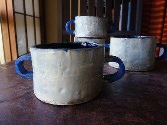 青いCハンドル 550mlスープカップLの画像