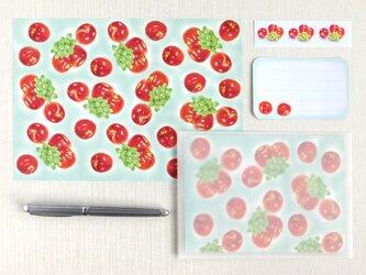 林檎と葡萄のレターセットの画像