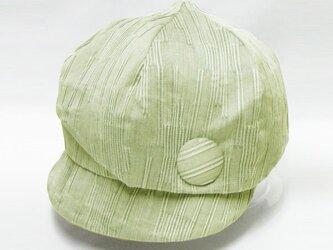 バードキャスケットー小鳥みたいなデザインの個性的なキャスケット(グリーン) レディース 帽子 サイズ調整OK 【PL1234】の画像