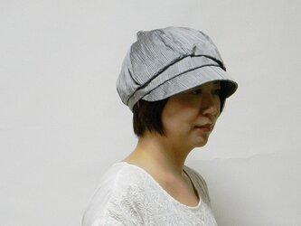 バードキャスケットー小鳥みたいなデザインの個性的なキャスケット(グレー) レディース 帽子 サイズ調整OK 【PL1234】の画像