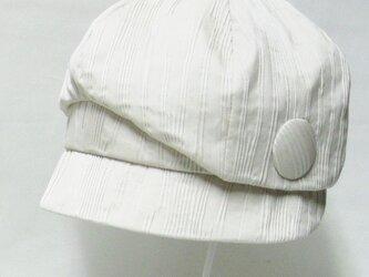 バードキャスケットー小鳥みたいなデザインの個性的なキャスケット(ベージュ) レディース 帽子 サイズ調整 【PL1234-BG】の画像
