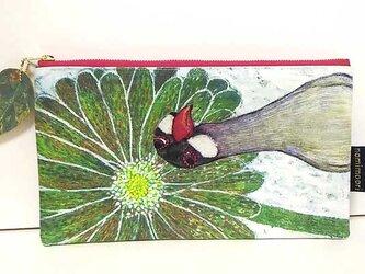 文鳥(花)のポーチの画像