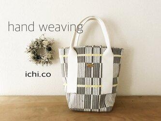 手織りバッグ(ホワイト)の画像