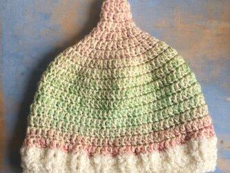 雲の上 ユニコーン pink  LL とんがり帽子 ニット帽 の画像