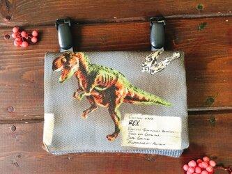 オトナのティッシュケースor移動ポケット 恐竜 くじらの大群の画像