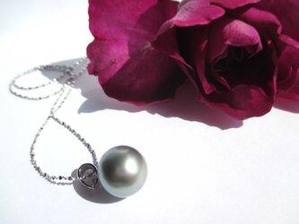 【タヒチ真珠シルバーネックレス2】の画像
