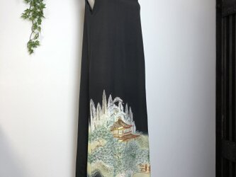 着物リメイク 留袖マキシ丈ワンピースの画像