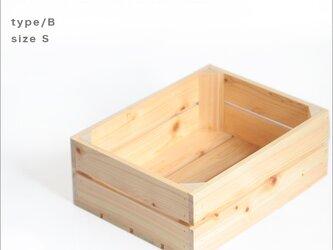 ウッドボックスヒノキ* type/B sizeS クリア塗装 木箱  アンティーク ウッドボックス 小物入れ キャンプの画像