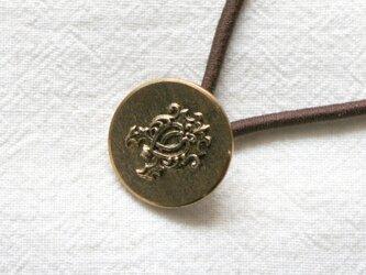 フランスアンティーク・ボタンへアゴム/紋章ボタン(AFB-064)の画像