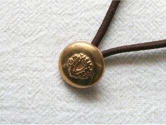 フランスアンティーク・ボタンへアゴム/紋章丸ポコボタン(AFB-065)の画像