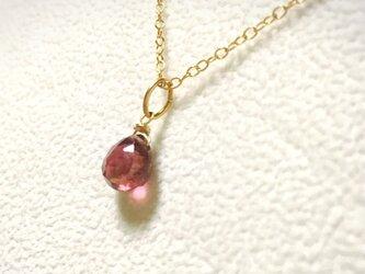 ピンクトルマリン14kgfネックレスの画像
