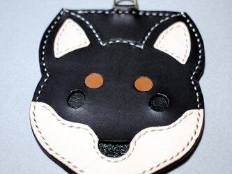 柴ワンコパスケース(黒柴)の画像