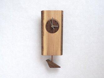 耳付きケヤキの振子時計 その1の画像